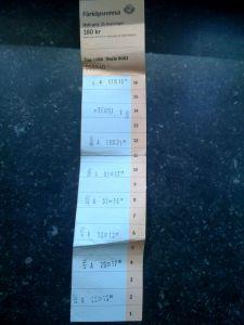 Biglietto cumulativo della metro