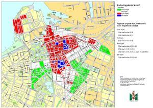 La mappa dei parcheggi a Malmö, dal sito del Comune