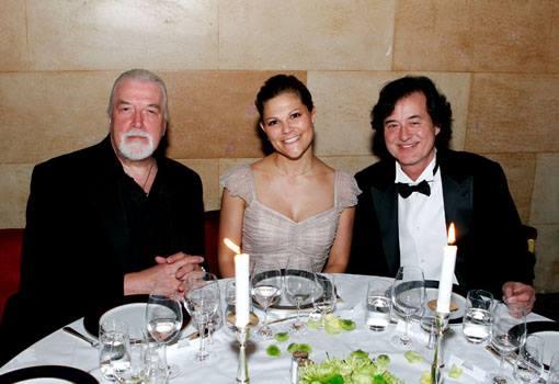 La Principessa Victoria con Jon Lord e Jimmy Page © Patrik Österberg / Polar Music Prize
