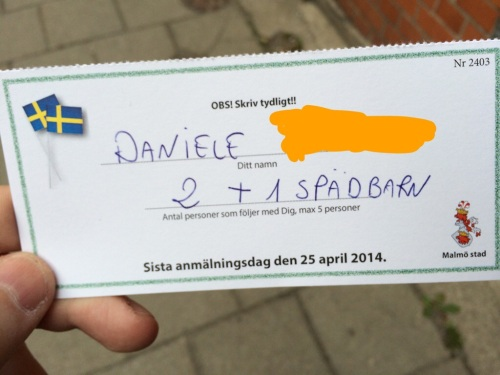Con questa cartolina postale ho accettato l'invito