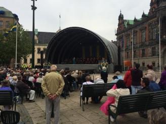 Il palco a Stortorget