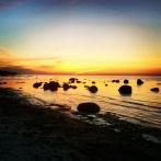 La spiagga di Båstad, di sera
