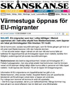 Migranti dall'Europa (C) Skånskan