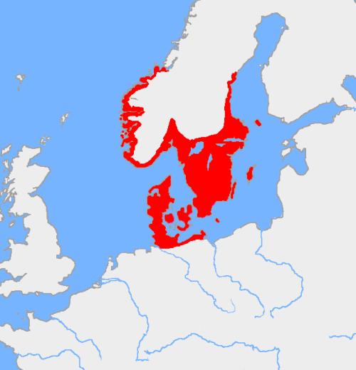 La diffusione dei popoli scandinavi ai tempi dell'età del bronzo nordica. Immagine di pubblico dominio tratta da Wikipedia