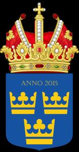 Lo stemma del nuovo Impero. La corona imperiale rimpiazza in alto quella reale.